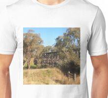 The HistoricTrestle Bridge, Pyalong Vic Australia Unisex T-Shirt