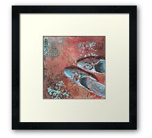 Not in my shoes Framed Print