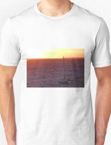 A sailboat at Sunset T-Shirt