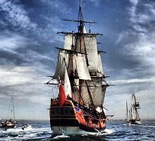 The Arrival of the Endeavour by Larry Lingard-Davis