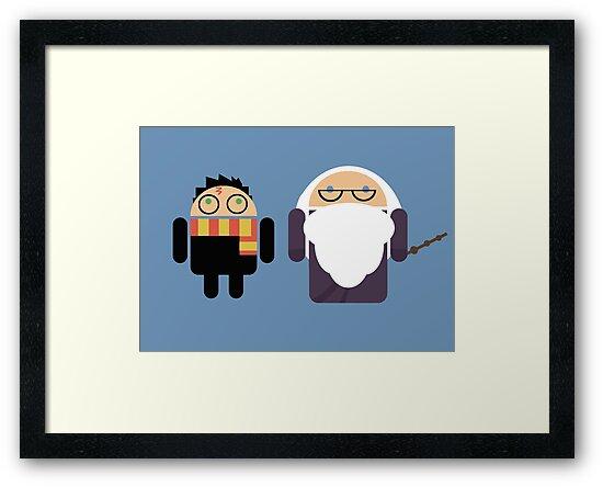Harry Pottroid and Dumbledroid by Karen  Hallion