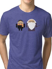 Harry Pottroid and Dumbledroid Tri-blend T-Shirt