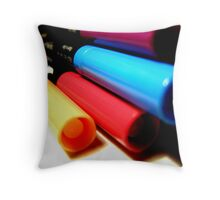 Bright Colours of Ink Throw Pillow