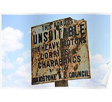 Bygone Sign Poster