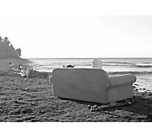 Couch Surfing in Seaside, Oregon B & W Photographic Print