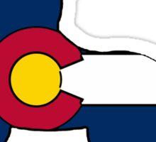 Colorado flag unicorn outline Sticker