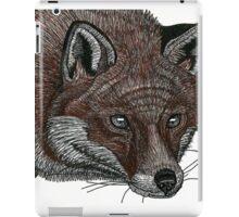 Red Fox Pen Drawing iPad Case/Skin