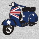 Australian Flag decal scooter by Auslandesign