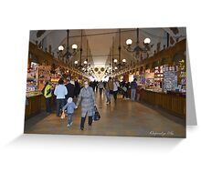 The Cloth Hall Market Greeting Card