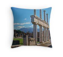 Pompeii Forum II, 79AD Throw Pillow