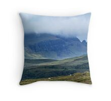 Old Man of Storr from Penifiler Skye Throw Pillow