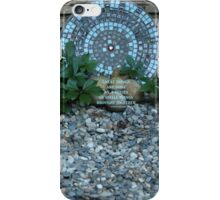 Mosaic Art in a Garden - (with quote) iPhone Case/Skin