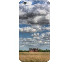 Grain Barn and Barley Field iPhone Case/Skin