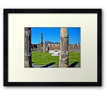 Pompeii And Vesuvius VI Framed Print