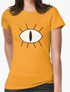 Bill Cipher Eye Womens Fitted T-Shirt