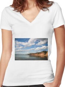 Whatta View Women's Fitted V-Neck T-Shirt
