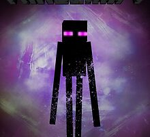 Minecraft Fan Poster - Ender Man by LydiaSivyer