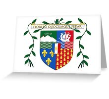 Coat of Arms of Réunion Greeting Card