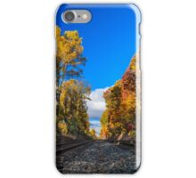 Railroad Tracks in the Fall Photo iPhone Case/Skin