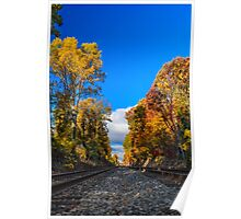 Railroad Tracks in the Fall Photo Poster