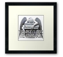 Angels have the phone box Framed Print