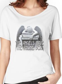 Angels have the phone box Women's Relaxed Fit T-Shirt