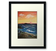 Seaweed and Rock pools Framed Print