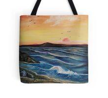 Seaweed and Rock pools Tote Bag