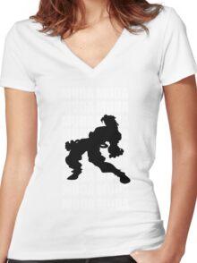 Dio Brando Women's Fitted V-Neck T-Shirt