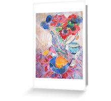 Anenomes in enamel jug Greeting Card