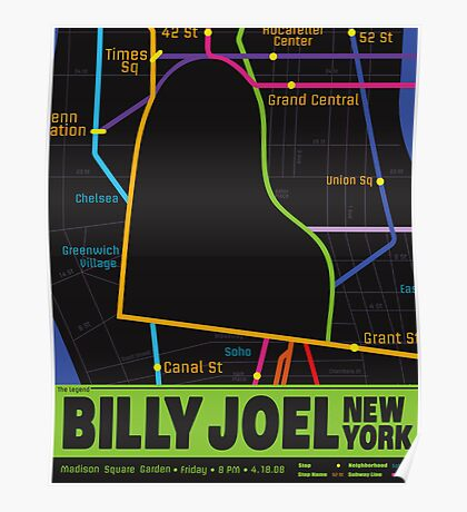 Billy Joel Poster Poster