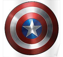 Captain America Shield BACK Poster
