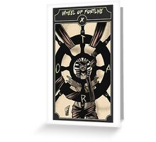 Wheel of Fortune - Sinking Wasteland Tarot Greeting Card