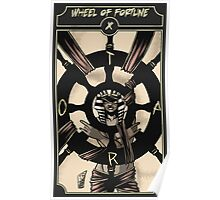 Wheel of Fortune - Sinking Wasteland Tarot Poster
