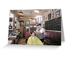 Hawleywood's Barber Shop Greeting Card