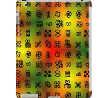 Adinkra Symbols With African Colors iPad Case/Skin