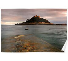 St Michaels Mount Causeway Poster