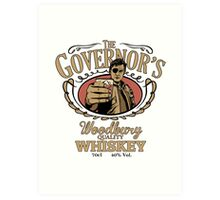 Governor's Whiskey Art Print