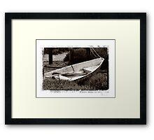 The boat Framed Print