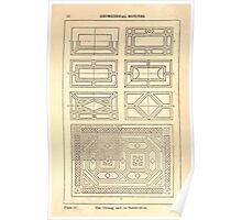 A Handbook Of Ornament With Three Hundred Plates Franz Sales Meyer 1896 0038 Geometrical Elements Oblong Subdivision Poster