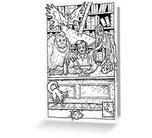 Edgar Allen Poe Greeting Card