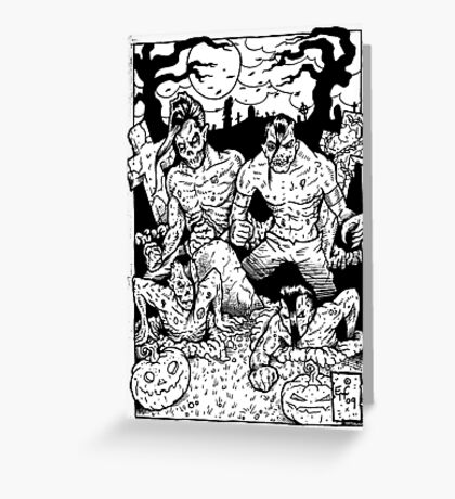 Misfits Comic-book Style Greeting Card