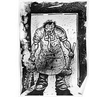 Leatherface Splatter Poster