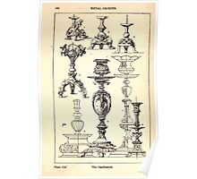 A Handbook Of Ornament With Three Hundred Plates Franz Sales Meyer 1896 0384 Metal Objects Candle Stick or Candlestick Poster