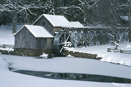 Mabry Mill - Winter by Joe Elliott