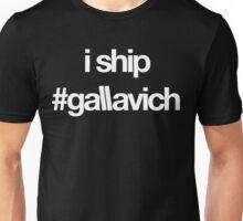 i ship #gallavich (White with black bg) Unisex T-Shirt