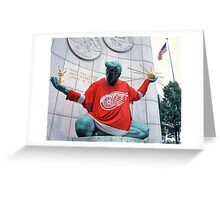 The Spirit of Detroit - Go Wings! Greeting Card