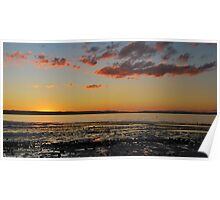 Sunset at Scarbourgh Beach Queensland Poster