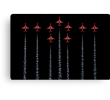 Red Arrows - RAF Canvas Print