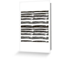 black brush strokes Greeting Card